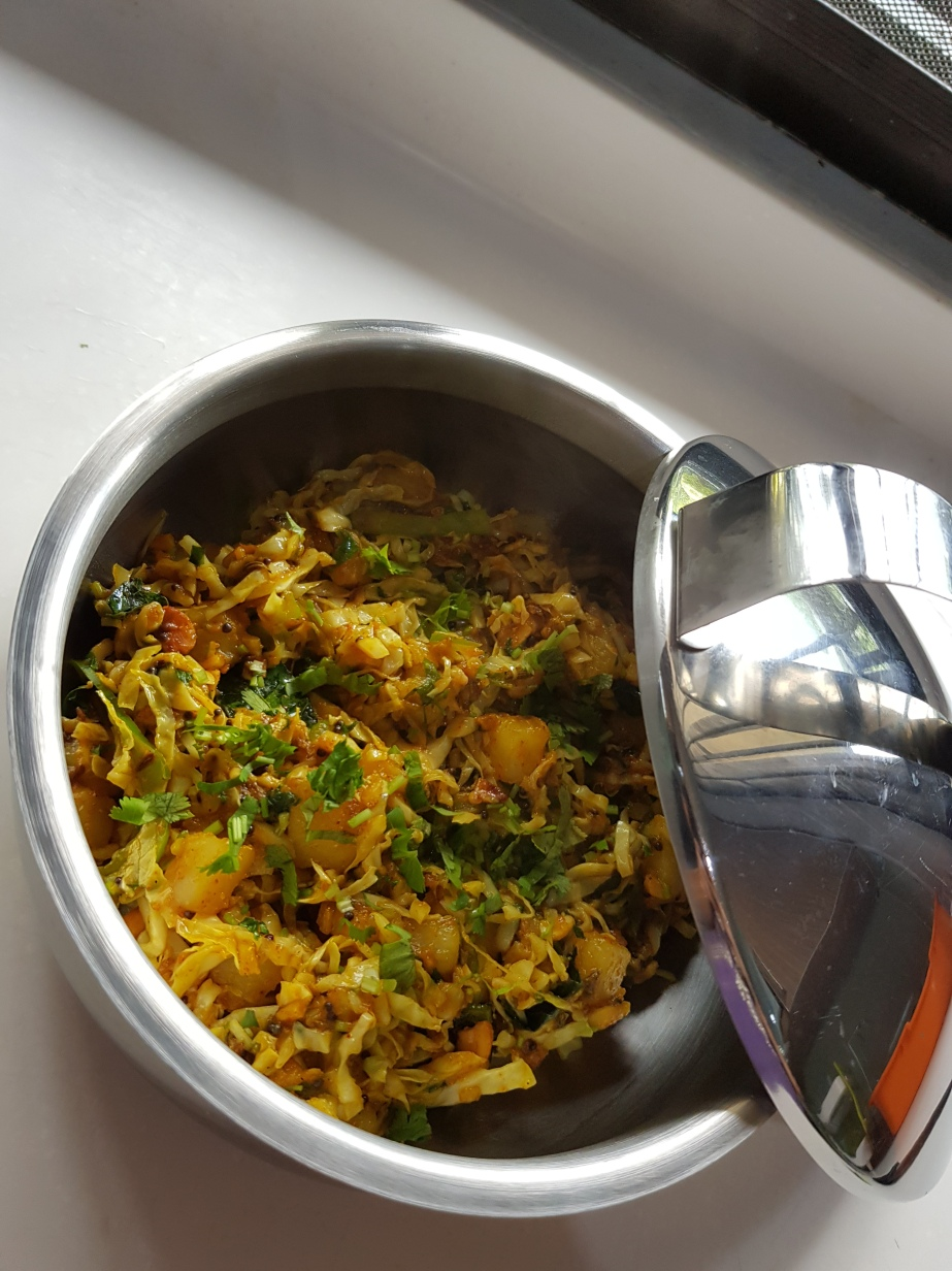 Jhatpat cabbage sabji